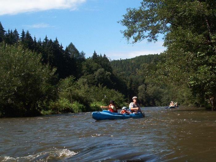 Kanoën op de rivier de Ohře