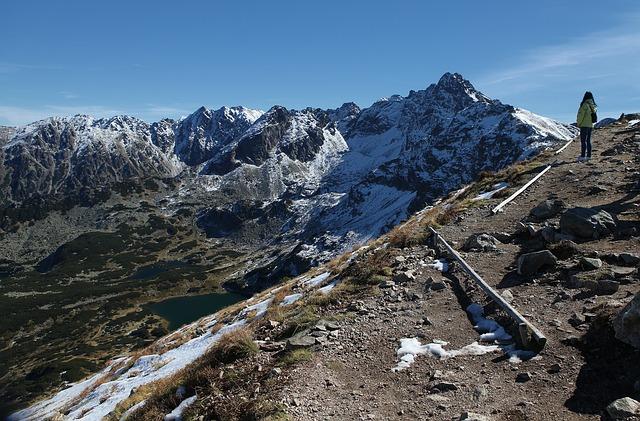 Wandelpad in de Tatra eind oktober