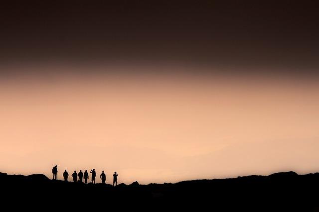 Wandelen in de Tatra bij zonsondergang
