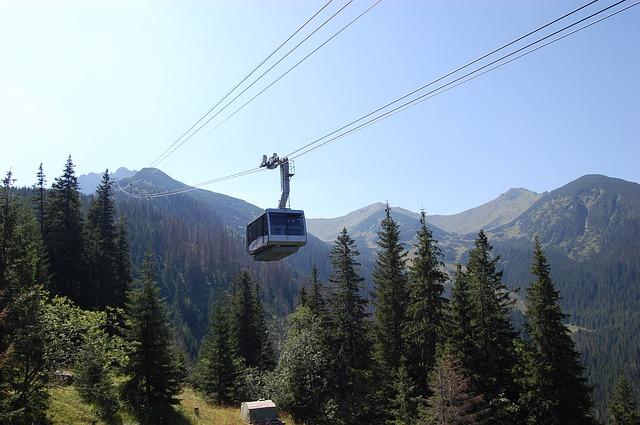 Moderne liften in de Tatra