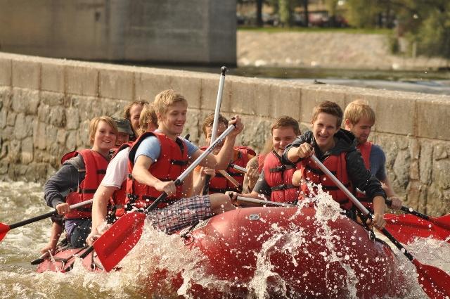 Fun rafting in Praag