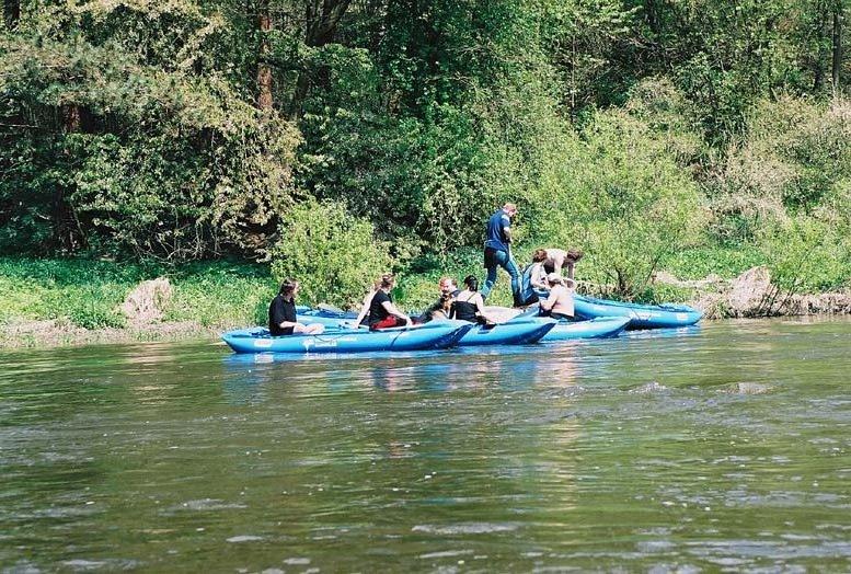Kanoën op de Sázava