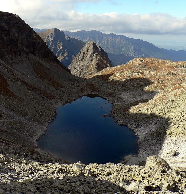 Een bergmeer in de Hoge Tatra