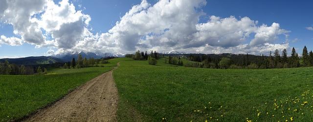 Een makkelijk begaanbaar pad in de Hoge Tatra