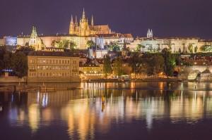 Uitzicht op de oude stad van Praag