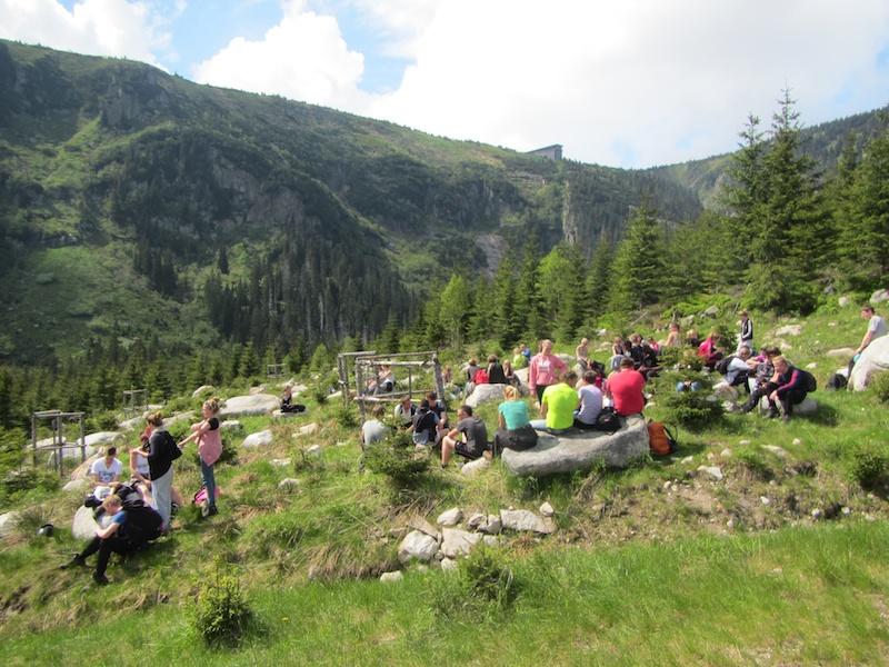 Pauzemomentje op het Štumpovka bergplateau