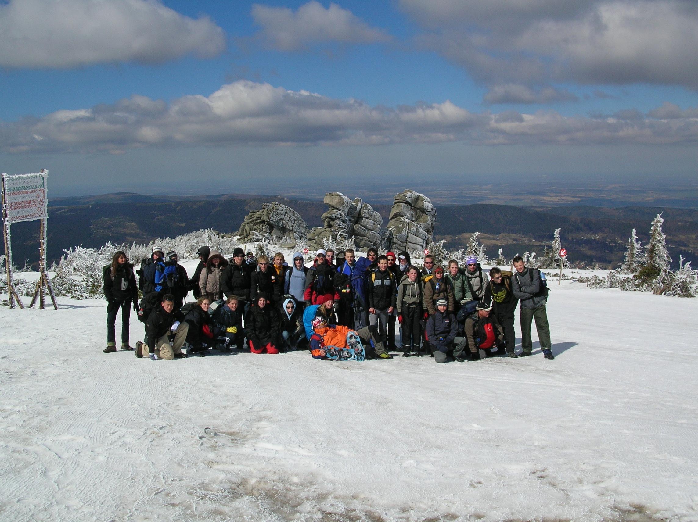 Sneeuwtrekking in Reuzengebergte