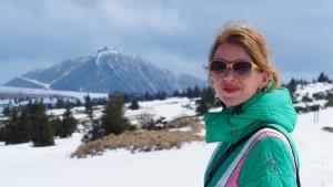 Berghuttentocht, deels door de sneeuw in mei.