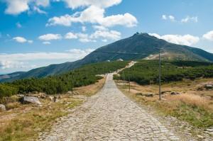 Wandelpad naar de Sněžka, de hoogste berg van Tsjechië