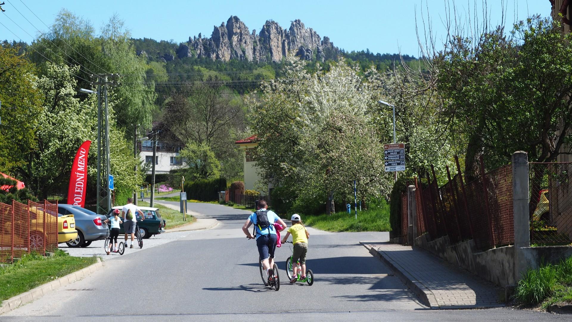 Er wordt ook veel gestept op de Jizera Greenway route
