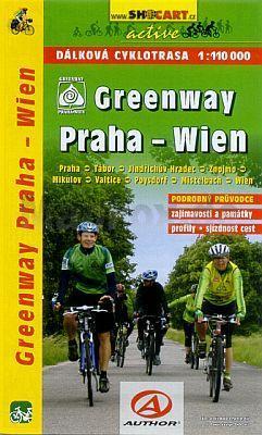 Kaart Praha - Wien Greenway